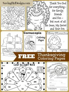 Keep the kiddos occupied while you get dinner ready with these wonderful FREE #Thanksgiving coloring pages | SavingByDesign.com