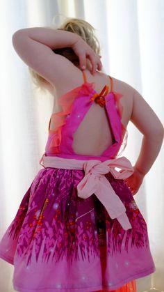 Girls Dresses, Flower Girl Dresses, Michael Miller Fabric, Backless, Wedding Dresses, Fashion, Dresses Of Girls, Bride Dresses, Moda