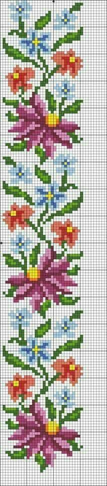This Pin was discovered by ayş Cross Stitch Bookmarks, Beaded Cross Stitch, Cross Stitch Borders, Cross Stitch Alphabet, Cross Stitch Flowers, Cross Stitch Designs, Cross Stitching, Cross Stitch Embroidery, Bead Loom Patterns