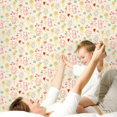 Cub Hub Removable WallPaper is peel and stick. It is the easiest and quickest way to decorate a child's room.