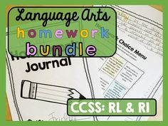Homework :: Language Arts:: This is a pack of Common Core aligned resources for language arts in the upper elementary classroom! Designed for BOTH CCSS Reading Literature and Informational Texts. Included are  more than 100 different  writing and short visual project prompts!