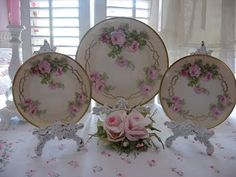 rose china, I have some of these same pieces of Royal Rudolstadt (Prussia)