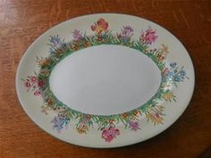 "Wedgwood Prairie Flowers bone china oval 13 1/2"" serving platter W1758"
