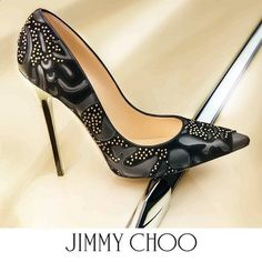 Lust Worthy Shoe - Jimmy Choo Abel Studded Flocked Pump toyastales.blogsp...