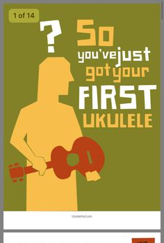 So, you're interested in learning to play the ukulele? Assuming you have already purchased your ukulele and are simply wondering where to start learning how to play, using the internet for lessons is certainly a good start. Cool Ukulele, Ukulele Tabs, Ukulele Songs, Ukulele Chords, Music Lessons, Guitar Lessons, Guitar Tips, Little Bit, Elementary Music