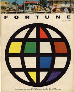Fortune, October 1957  Designer: Walter Allner, art director: Leo Lionni