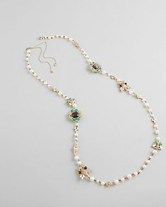 Chanel Pearl & Glass Medallions Necklace