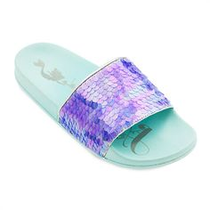 904cc674e23b Make these slides a part of your world at the pool or beach. These Little  Mermaid slides from Oh My Disney feature art with Ariel singing on the sole  and ...