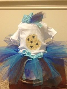 C is for Cute Cookie lil' monster tutu outfit by SewTUTUCutebyDani, $30.00
