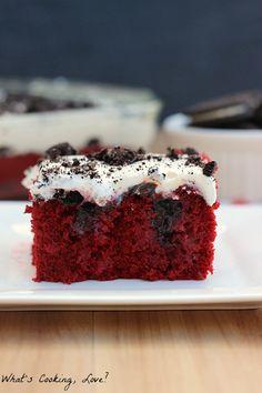 Red Velvet Oreo Poke Cake - Whats Cooking Love?