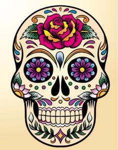 Use this image for some cool Day of the Dead artwork- wood transfer and then add some faux flowers.