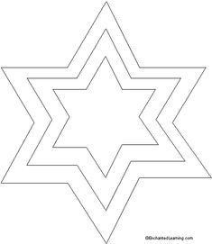 Star of David Template Printout - punched tin star