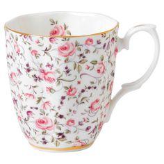 Royal Albert Rose Confetti Vintage Mug brings back wonderful memories of sharing tea with my mom and aunt.
