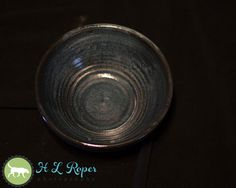 Small Blue Lizella Stoneware Bowl Army by TazChessieArtwork