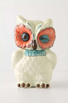 Anthropologie Europe - A Real Hoot Jar Canister