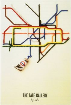 London Underground posters Forgotten London Underground posters // The Tate Gallery By Tube; by David Booth of the agency Fine White Line, London Underground posters // The Tate Gallery By Tube; by David Booth of the agency Fine White Line, 1986 London Tube Map, London Map, London Travel, Tate London, London Underground, Underground Tube, Underground Series, London Transport Museum, Public Transport