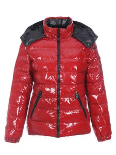 Moncler Bady Quilted Hooded Down Shiny Red Jacket [2899953] - £145.79 : 5% off discount code: happywinter