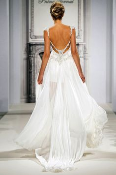 Very pretty, but very #sheer #weddinggown by Pnina Tornai would be complete with a #luxxieboston