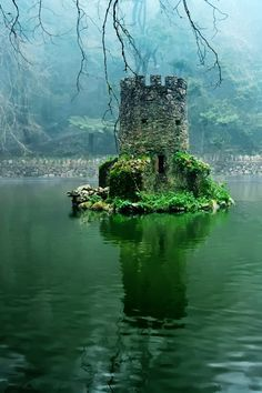 Mini Castle in a Lake Sintra, Portugal