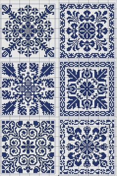More square tiles - Chart for cross stitch or filet crochet. Cross Stitch Borders, Cross Stitch Samplers, Counted Cross Stitch Patterns, Cross Stitch Charts, Cross Stitch Designs, Cross Stitching, Blackwork Embroidery, Cross Stitch Embroidery, Embroidery Patterns