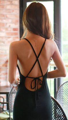 Tie back maxi