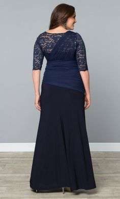 b6a578d9968 Check out the deal on Soiree Evening Gown at Kiyonna Clothing