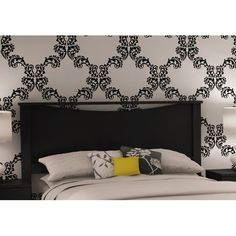 tiffany blue walls with black, white and damask accents for my room - #redecorating with inspirations from Jonathan Adler...money...what money?
