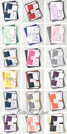 Color never looked so good! Our top favorite client customizations. #urbanelegance #modern #weddinginvitations @beaconln