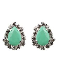 Mint Teardrop Earrings