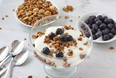 Yogurt Granola Parfait... simplicity at its best!