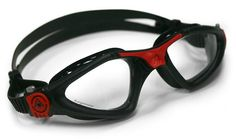 Amazon.com: Aqua Sphere Kayenne Goggle With Clear Lens, Black/Red: Sports & Outdoors