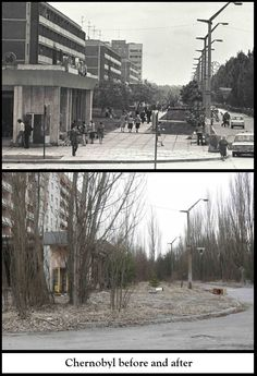 #Chernobyl #Russia #nuclear Before and after