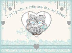 Tatty Teddy ~ Help From My Friends. Cute Teddy Bear Pics, Teddy Bear Pictures, Cute Bears, Teddy Images, Tatty Teddy, Teddy Beer, Das Abc, Blue Nose Friends, Bear Card