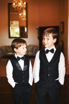 Little tuxes for the page boys