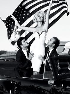 Guess by Marciano Spring / Summer 2011 Ad Campaign   New York Fashion-- american flag