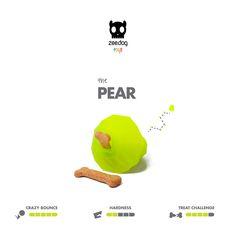 Zee.Dog Toys | Super Fruitz | The Pear