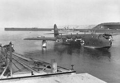The Blohm & Voss BV 222 Wiking (Viking) - six-engined German flying boat of World War II, and the largest flying boat to achieve operational status during the war. Amphibious Aircraft, Ww2 Aircraft, Fighter Aircraft, Military Aircraft, Military Jets, Luftwaffe, Aircraft Painting, Experimental Aircraft, Flying Boat