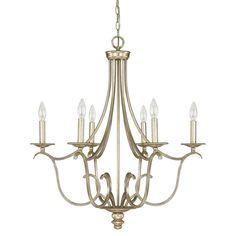 Capital Lighting Bailey 6 Light Candle Chandelier & Reviews | Wayfair