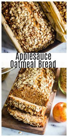 Apple Dessert Recipes, Loaf Recipes, Quick Bread Recipes, Apple Recipes, Pumpkin Recipes, Sweet Recipes, Baking Recipes, Oatmeal Bread Recipe, Tasty Bread Recipe