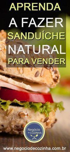 Comece seu negócio de lanche natural para vender. Sanduíche natural pode te render cerca de R$2.000 por mês! Nesse artigo você vai conhecer um monte de dica que vai te ajudar a trabalhar da maneira correta, desde as embalagens, a validade, a forma de vender... Além disso vou te apresentar duas receitas de sanduíche natural para você começar a treinar em casa para vender! #sanduichenatural #lanchenatural #façaevenda #façavocêmesmo #gastronomia #lanches #culinária #suacozinha #ganhardinheiro