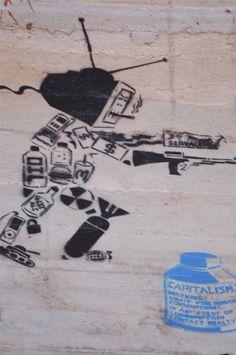 Anti Capitalism Graffiti by JC from Holland on @creativemarket