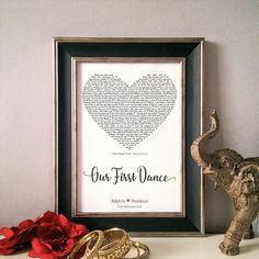 Personalised Our First Dance Print  Wedding Gift by KushiyaDesigns