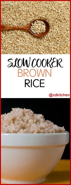 Want perfectly cooked brown rice? Try making it in your crock pot. Never mushy, just perfectly cooked grains of rice. | CDKitchen.com