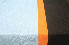 """Landscape Quilt from Anna Von Mertens---inspired by the """"setting sun glowing behind the pine trees at the edge of a New England field."""""""