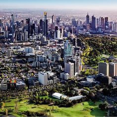 Marvellous Melbourne captured high from the sky by @lensaloft #visitmelbourne