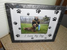 Don't we all love our dogs. Picture your dog in this hand painted Frame By Devora