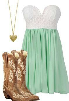Pretty teal and white summer dress