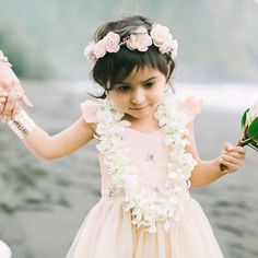 perfectly pink flower girl