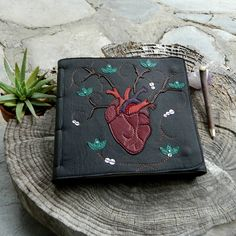 Anatomical Heart Leather Diary Healing Diary Art Journal With