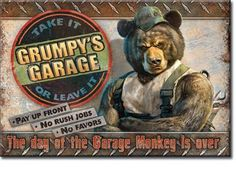"""What Happens in the Garage.. STAYS in the Garage  Miniature Sign Magnet 2/""""x3/"""""""
